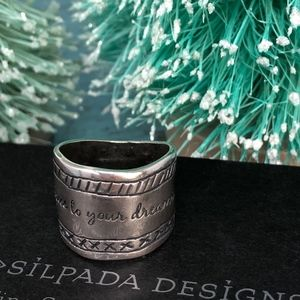 """Silpada 925r """"Be True To Your Dreams"""" Ring Size 8"""